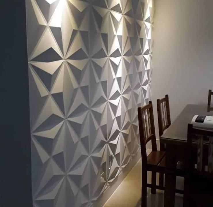 Diseño y Decoración de Muros: Paredes de estilo  por N&V diseño y construcción