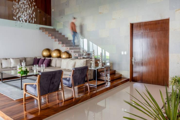 SALA: Salas de estilo  por GENETICA ARQ STUDIO, Moderno Madera Acabado en madera
