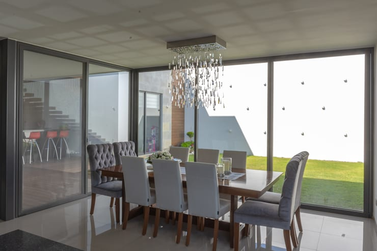 COMEDOR: Comedores de estilo  por GENETICA ARQ STUDIO, Moderno Madera Acabado en madera