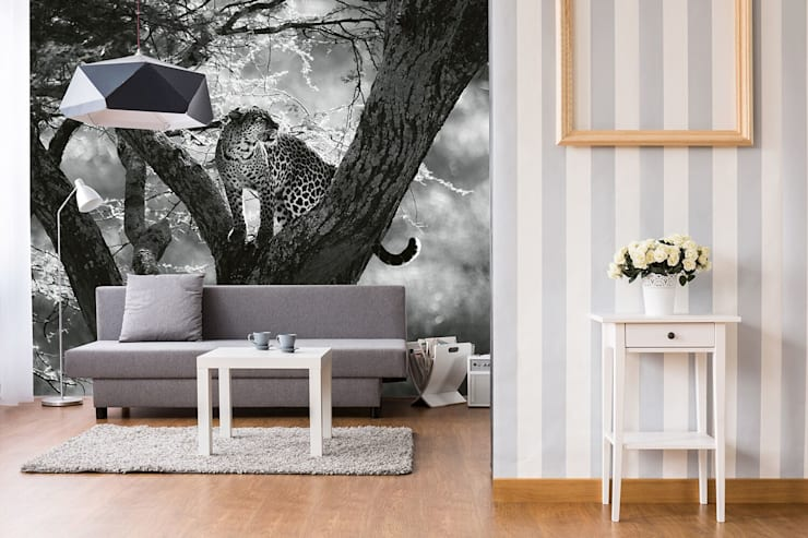 Leopard on tree:  Household by United wallcoverings,