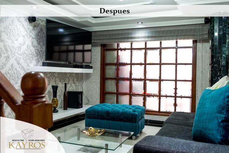 El Equilibrio: Puertas y ventanas de estilo  por KAYROS ARQUITECTURA DISEÑO INTERIOR,