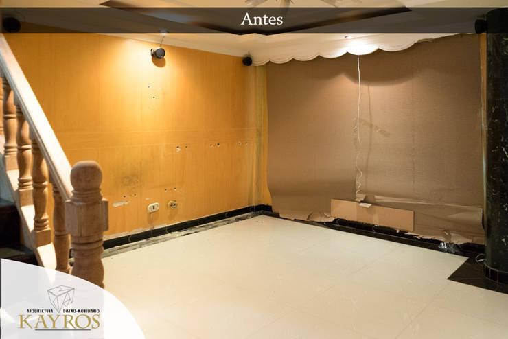 Esquina del Area Social: Puertas y ventanas de estilo  por KAYROS ARQUITECTURA DISEÑO INTERIOR,