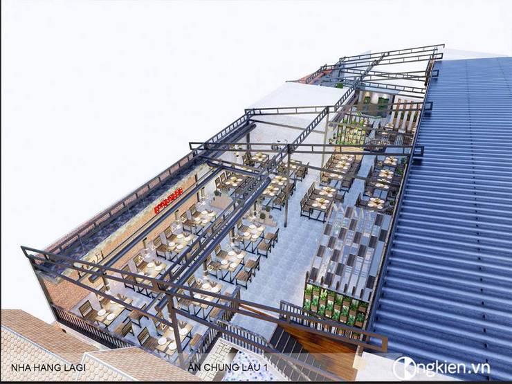 Phối cảnh tổng thể nhìn từ trên cao:   by OngKien Design,