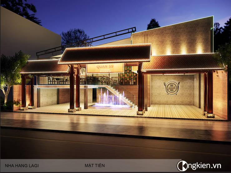 Phối cảnh ngoại thất quán ăn nhà hàng 59:   by OngKien Design,