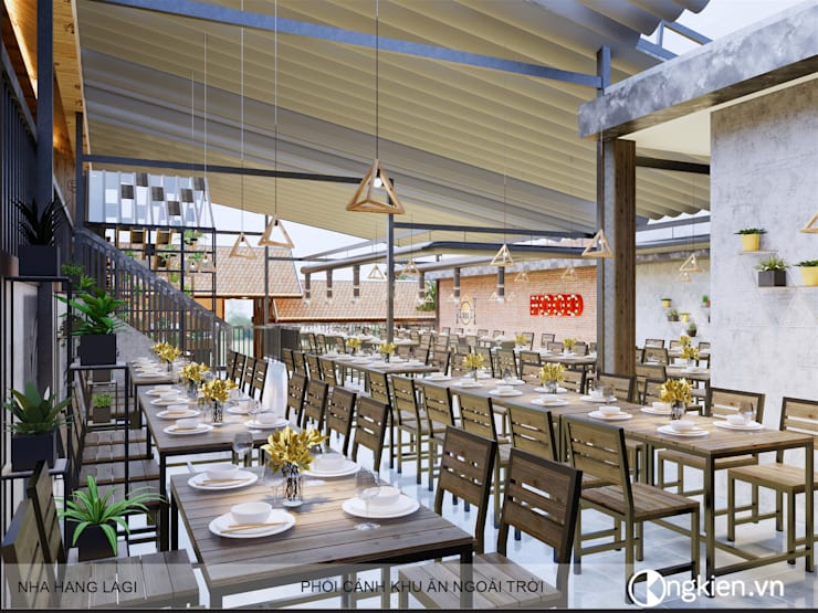 Thiết kế quán ăn gia đình 59 La Gi:   by OngKien Design,