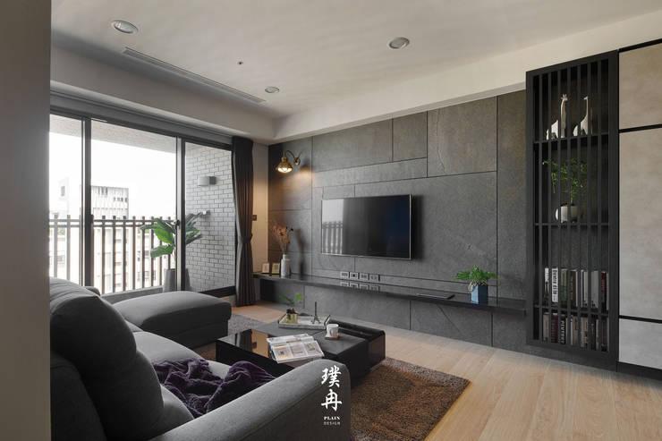 Salas / recibidores de estilo  por 璞冉空間設計, Minimalista