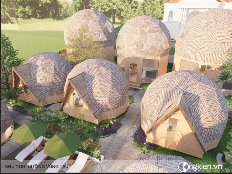 Phối cảnh resort bungalow ốc sên:   by Công ty TNHH Ông Kien,
