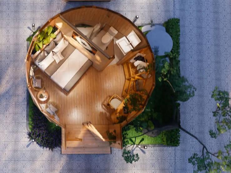 Phối cảnh nội thất bungalow ốc sên:   by Công ty TNHH Ông Kien,
