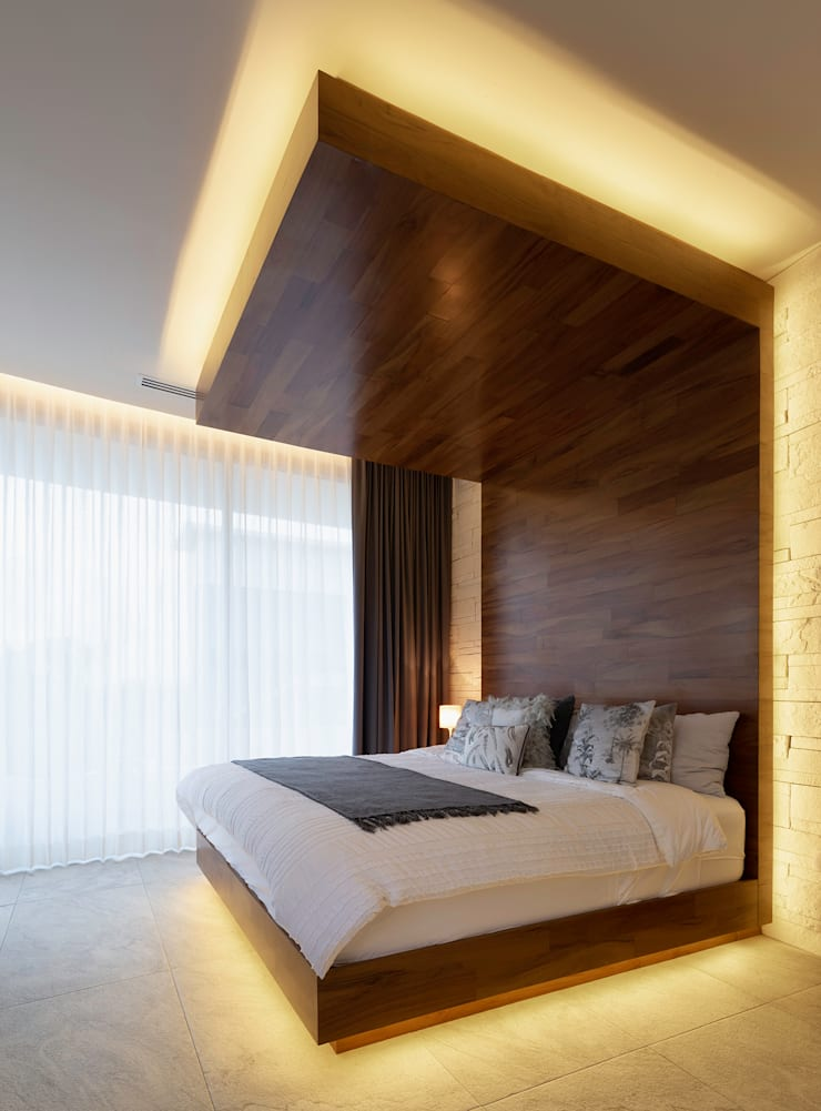 Small bedroom by Daniel Cota Arquitectura | Despacho de arquitectos | Cancún, Modern Wood Wood effect