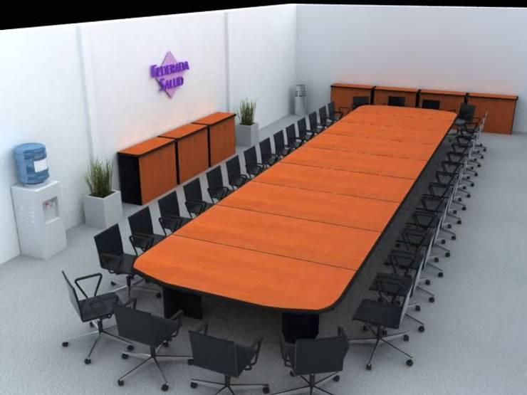 Diseños Modernos : Sala multimedia de estilo  por PROYECTOS EN MELAMINE