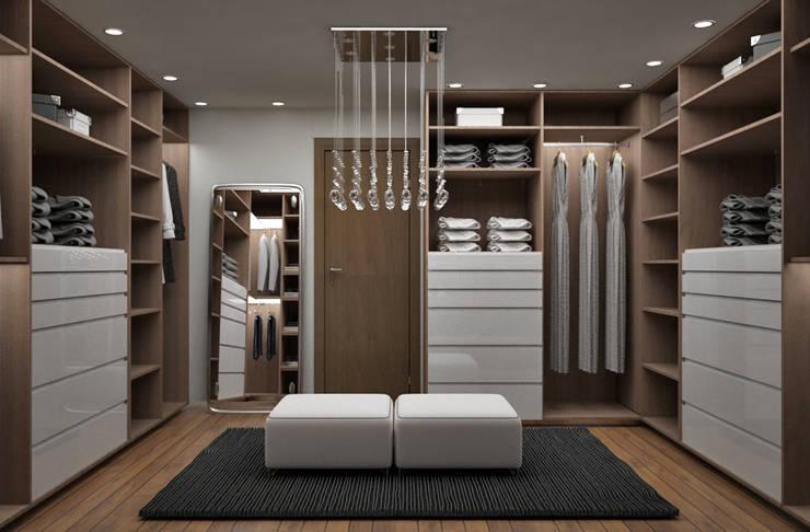 Diseños Modernos : Closets de estilo  por PROYECTOS EN MELAMINE