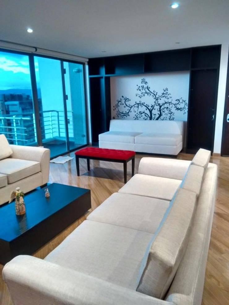 Sala Social: Salas de estilo  por KAYROS ARQUITECTURA DISEÑO INTERIOR,