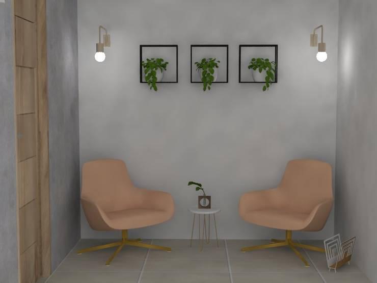 Recepción consultorio: Oficinas y Tiendas de estilo  por Decó ambientes a la medida,