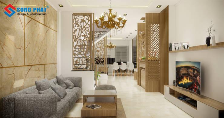 Hoàn thành thiết kế nội thất hiện đại tại Tp.HCM :  Household by Công Ty Cổ Phần Kiến Trúc Xây Dựng Song Phát,