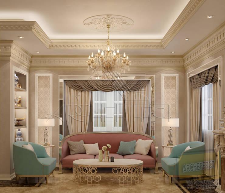 Classic Reception :  غرفة المعيشة تنفيذ Archeffect,