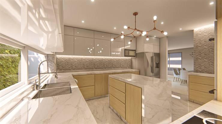 DISEÑO Y REMODELACIÓN COCINA - CASA 05: Cocinas integrales de estilo  por DIKTURE Arquitectura + Diseño Interior,