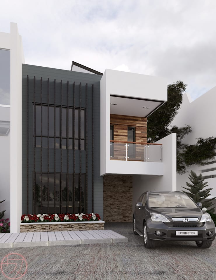 2-Storey Residential:  Single family home by Kenchiku 2600