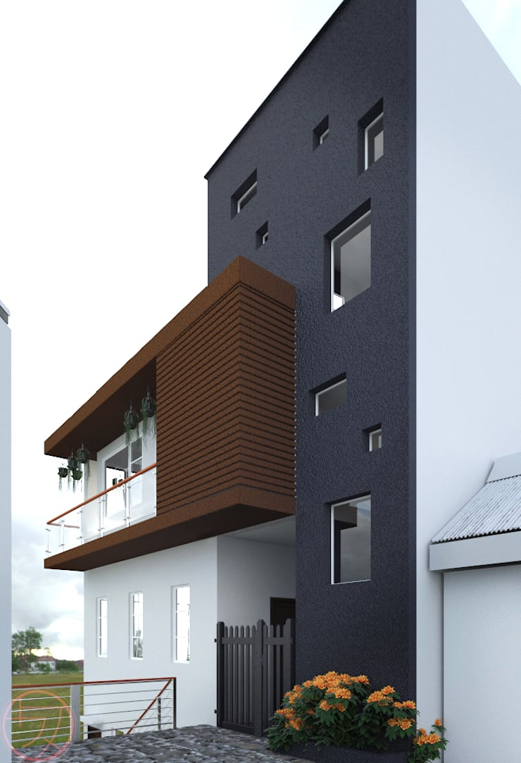 3-Storey Residential with basement:  Single family home by Kenchiku 2600