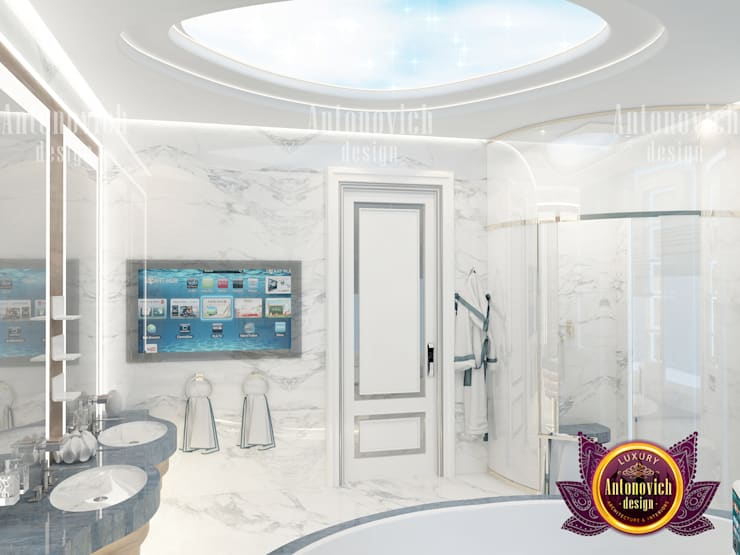 Bathroom of Elegant Design:   by Luxury Antonovich Design