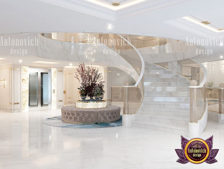Amazing Light Hall Design:   by Luxury Antonovich Design,