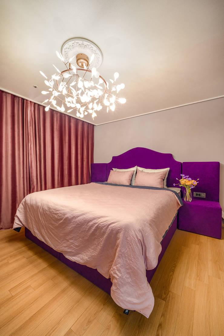30평 아파트 홈스타일: 제이미홈스타일링의  침실,