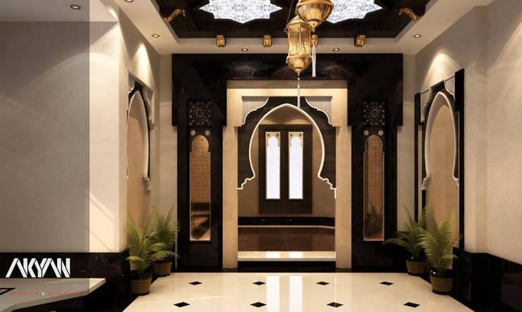 طراز عربي جذاب  لبيت  بالدوحة:  تصميم مساحات داخلية تنفيذ AKYAN