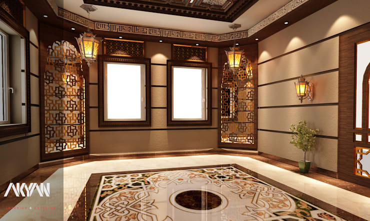 طراز عربي جذاب  لبيت  بالدوحة: انتقائي  تنفيذ AKYAN, إنتقائي مواد مُصنعة Brown