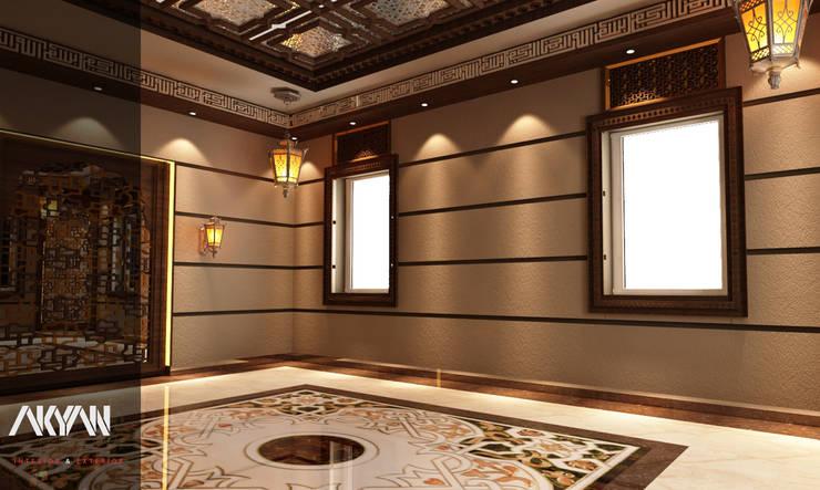 اسقف خشبية:  تصميم مساحات داخلية تنفيذ AKYAN