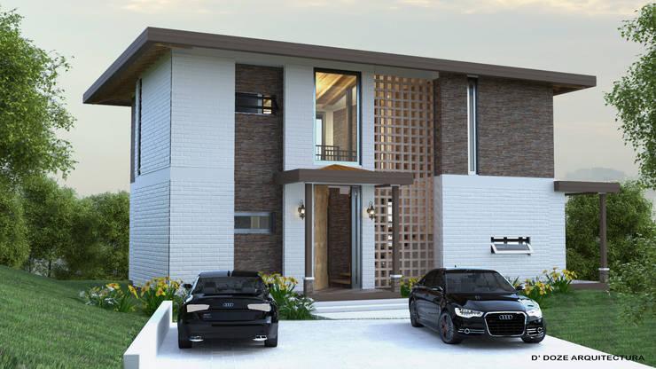 CASA DE CAMPO MYO: Casas de estilo  por D´  DOZE ARQUITECTURA Y DISEÑO,