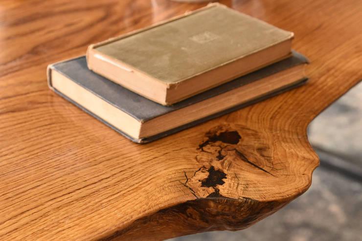 Oak Slab Table: industrial  by SPRUE Limited, Industrial