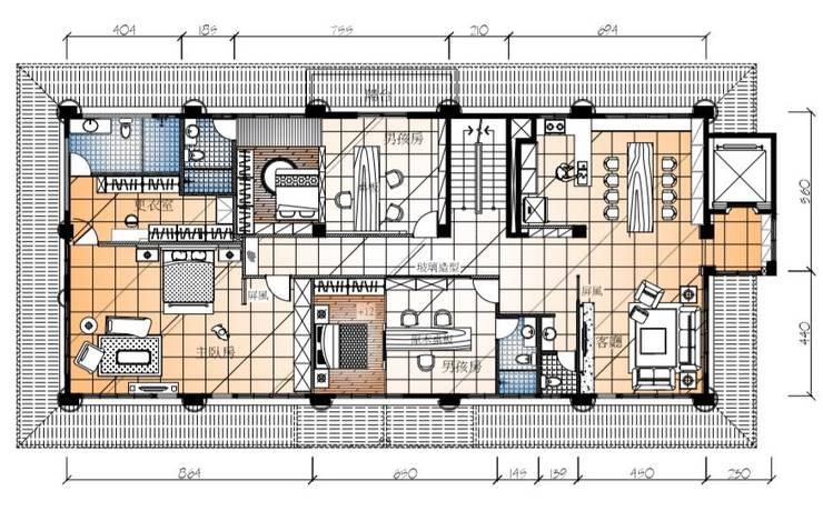 2樓空間平面圖:   by 台中室內建築師|利程室內外裝飾 LICHENG,