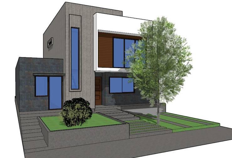 Casa Contemporanea 120m2: Casas unifamiliares de estilo  por DUHOUSE, Moderno Madera Acabado en madera