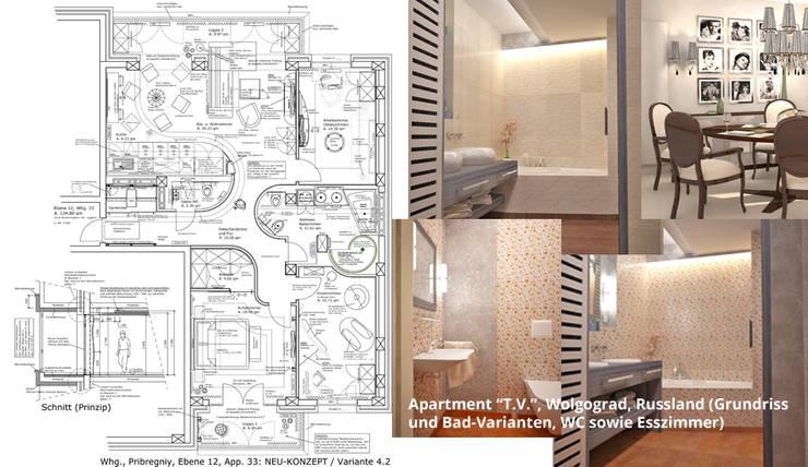 Kamar Mandi oleh GID│GOLDMANN-INTERIOR-DESIGN - Innenarchitekt in Sehnde, Modern