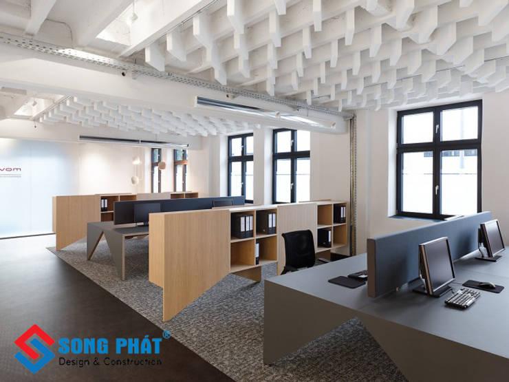 Thiết kế văn phòng mới lạ.:   by Công Ty Cổ Phần Kiến Trúc Xây Dựng Song Phát,