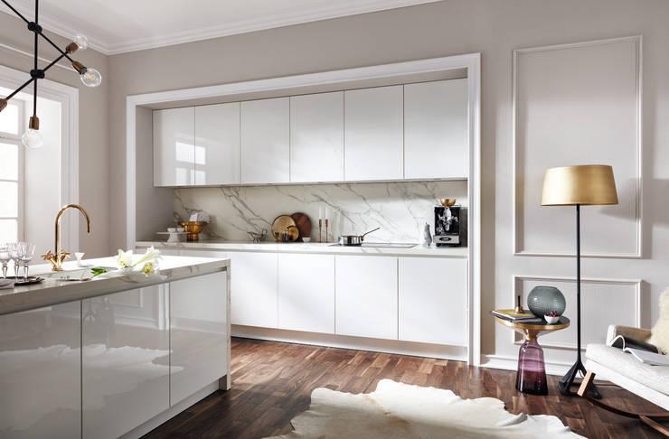 Handleless White Kitchen :  Kitchen by LWK Kitchens SA
