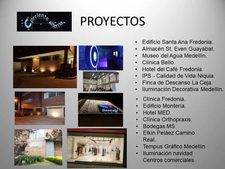 Proyector general: Casas de estilo  por Corriente Alterna,