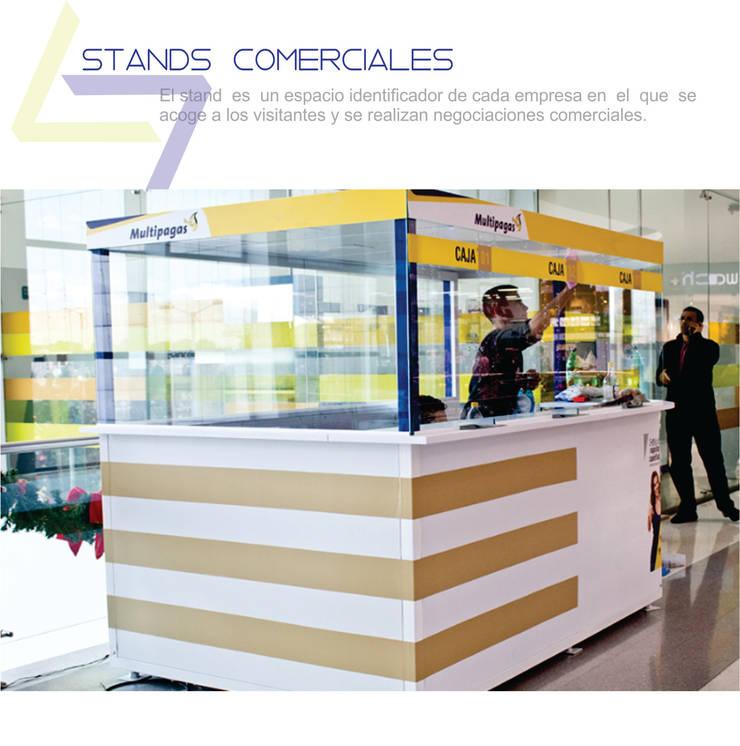 Diseño y fabricación de stands comerciales: Paisajismo de interiores de estilo  por Arte ligero colombia,