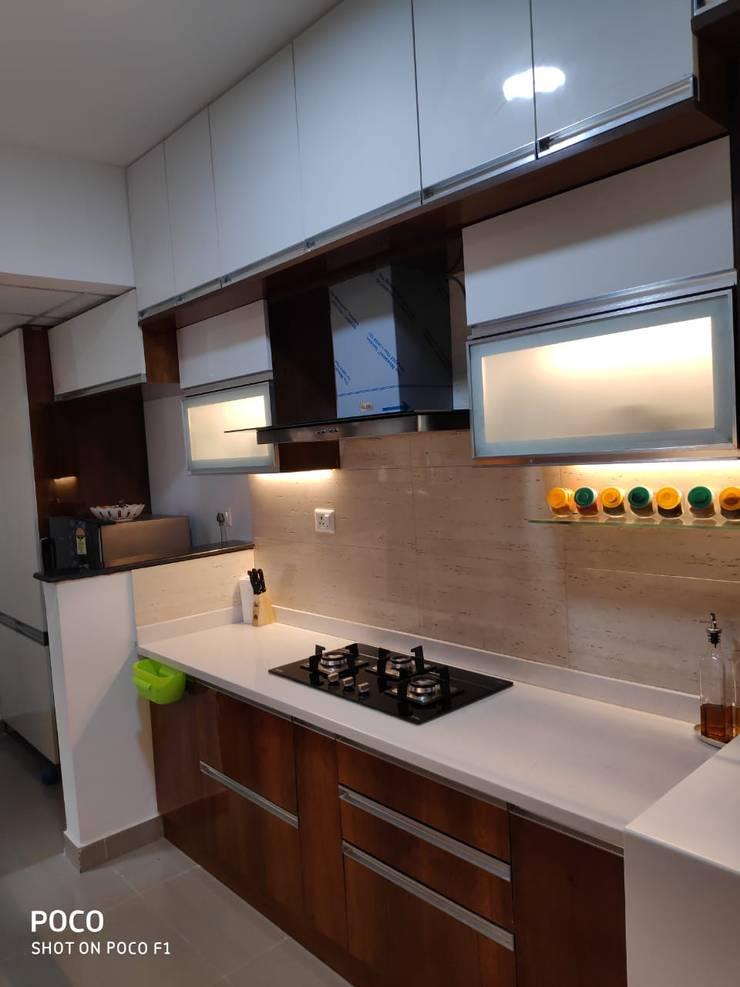 Wet Kitchen : modern  by SD Interiors & Modulars,Modern Wood Wood effect