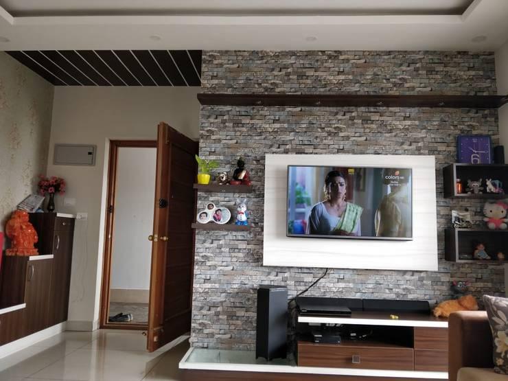 TV Wall unit: modern  by SD Interiors & Modulars,Modern