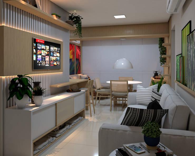 Sala de estar: Salas de estar  por ALENCAR Arquitetura | Interiores,Moderno MDF
