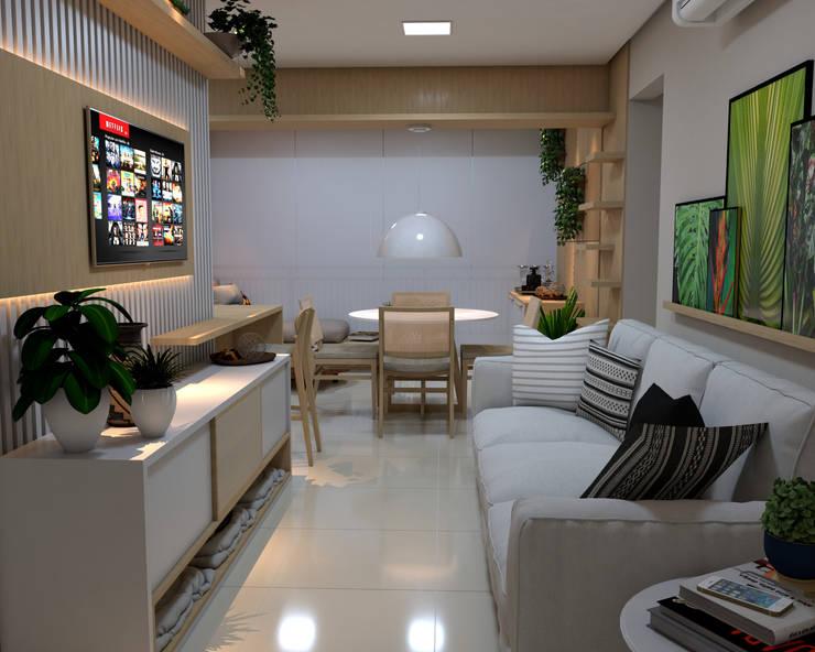 Sala de estar: Salas de estar  por ALENCAR Arquitetura | Interiores,Moderno Madeira Efeito de madeira