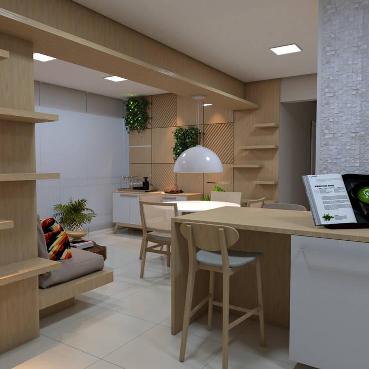 Cozinha: Armários e bancadas de cozinha  por ALENCAR Arquitetura | Interiores,Moderno MDF