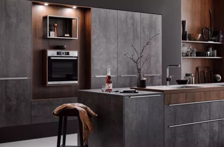 Iron Grey Ceramic Kitchen : modern  by LWK Kitchens SA, Modern Ceramic
