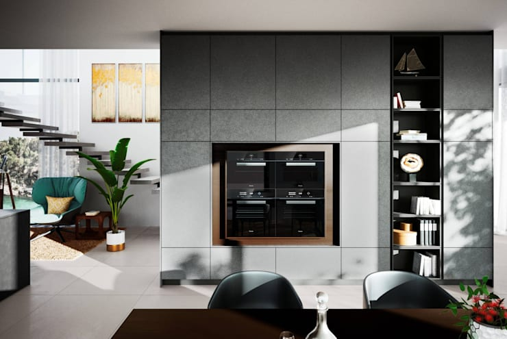 Ceramic Concrete Units: modern  by LWK Kitchens SA, Modern Concrete