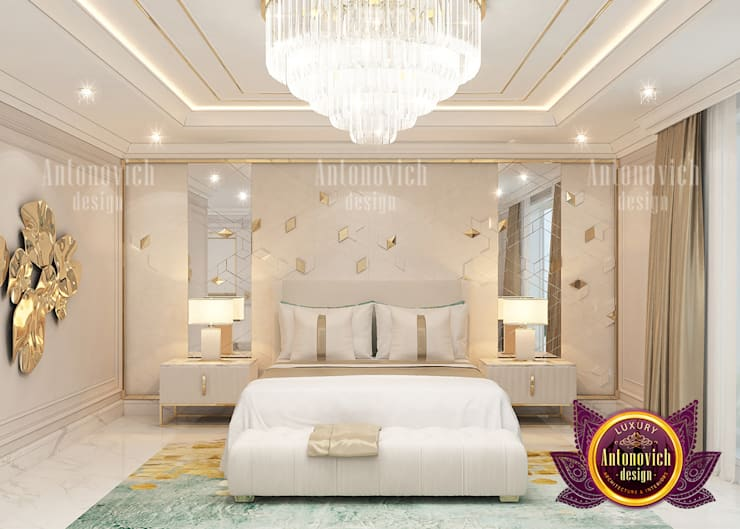 Top Outstanding Materials for Bedroom:   by Luxury Antonovich Design,