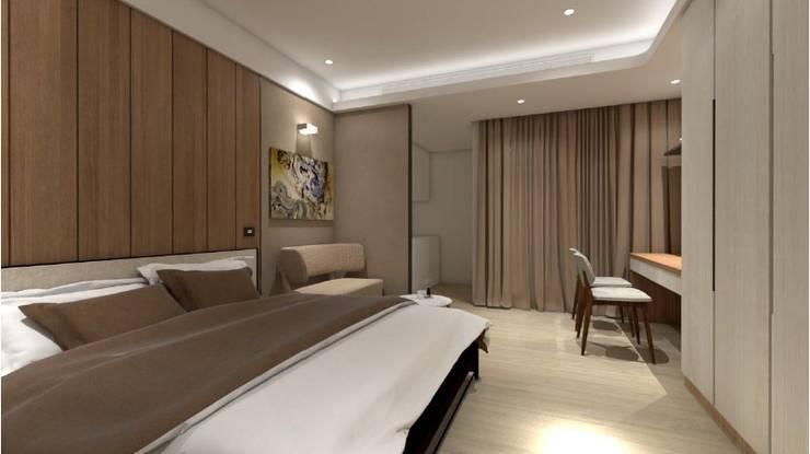Bedroom by c+室內設計工作室, Modern