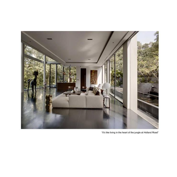 living:  Living room by museum homes, Modern