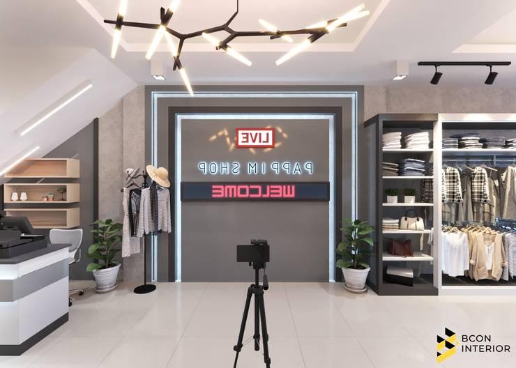 ผลงานการออกแบบ Shop ที่ โคราช:  ตกแต่งภายใน by Bcon Interior
