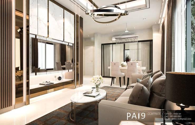 Project : Perfect Place 4 – Ratchapruek:  ห้องนั่งเล่น by PAI9 Interior Design Studio