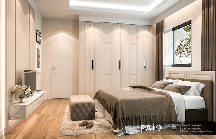 Project : Perfect Place 4 – Ratchapruek:  ห้องนอนขนาดเล็ก by PAI9 Interior Design Studio